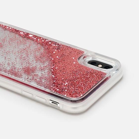 san francisco 65851 595b7 Glitter iPhone X Case - Blue Watercolor Clear Iphone case