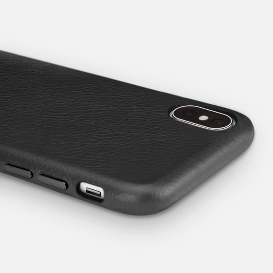 black leather case iphone x