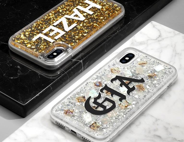 24 Karat Magic Initial Phone Case