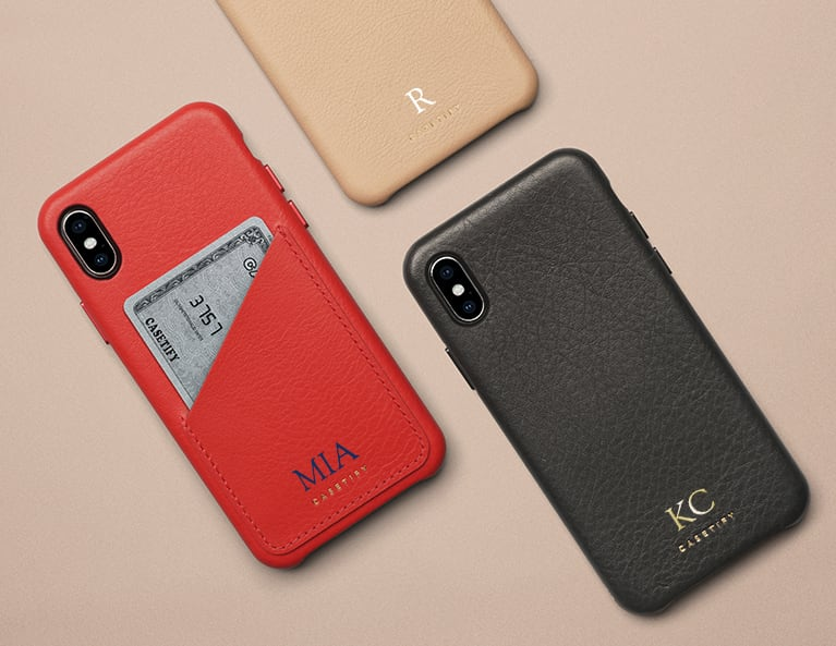 Initial Leather Phone Case
