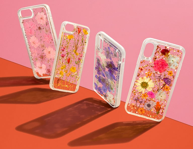 Luxe Pressed Flower iPhone X Cases