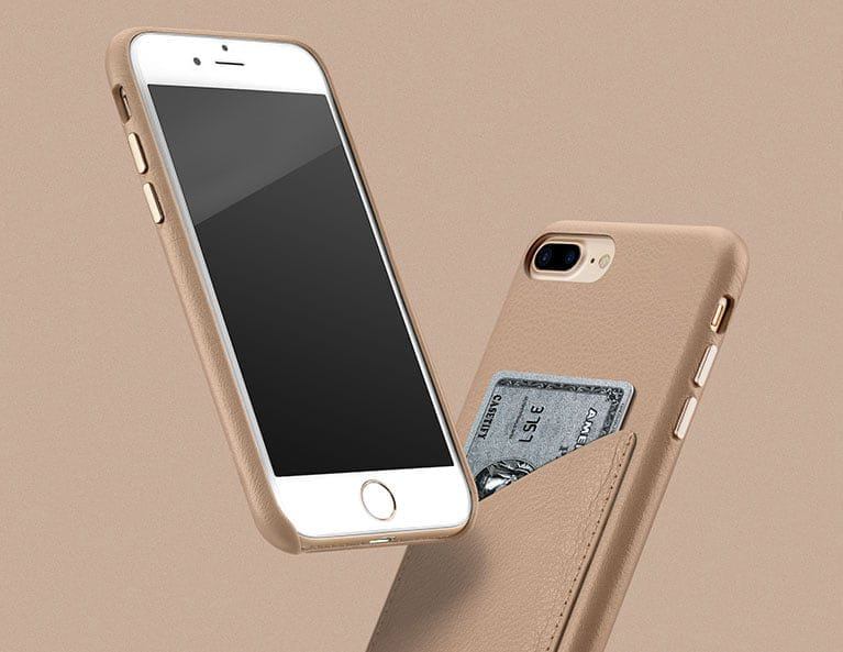 iPhone 8 Plus Leather Card Case
