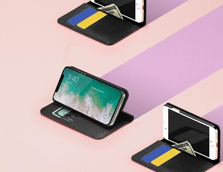 iPhone 8 Plus Wallet Case with RFID
