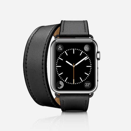 Black - Casetify Double Tour Apple Watch Band 38mm / 42mm