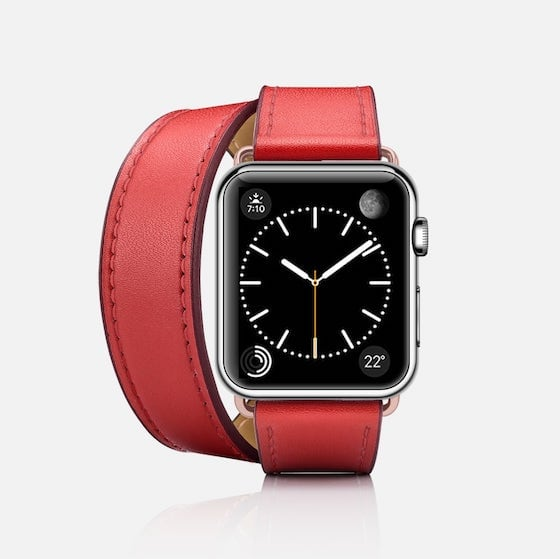 Red - Casetify Double Tour Apple Watch Band 38mm / 42mm