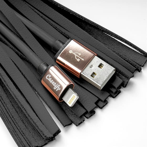 Charging Cable For Iphone Lightning To Usb Noir Casetify