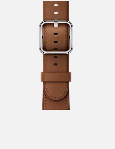 ブラウン - Horween Leather Apple Watch Band 38mm / 42mm